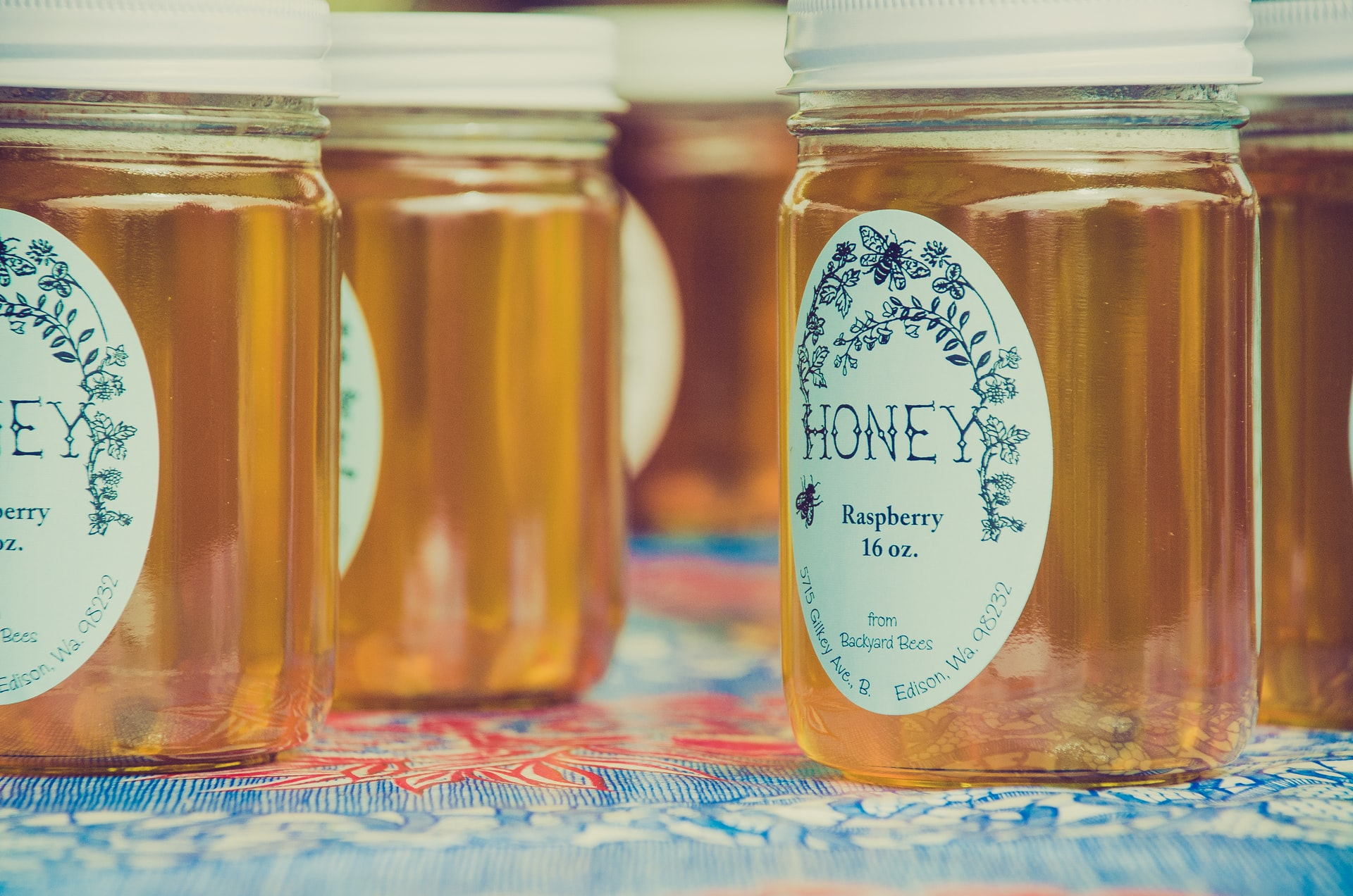 Photo of jars of honey