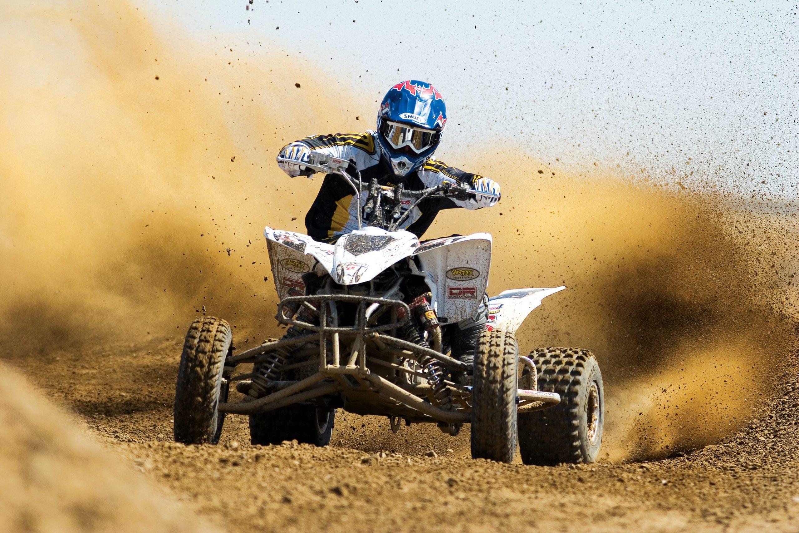 quad bike on dirt